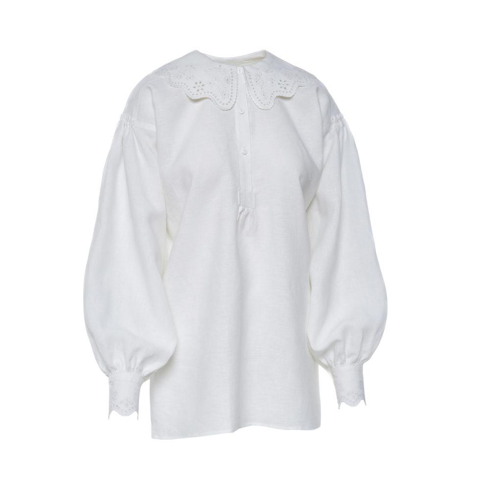 Dzūkiški moteriški siuvinėti marškiniai Mrš14