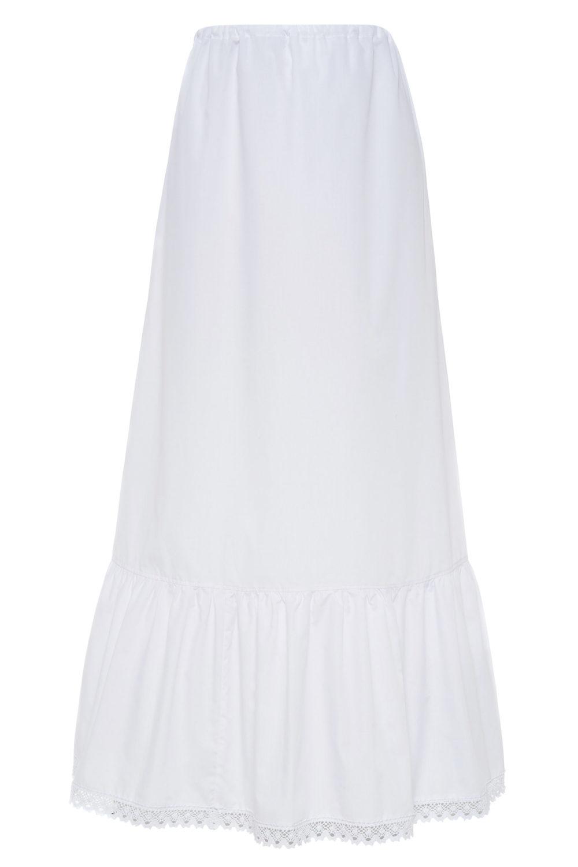 Apatinis sijonas, pasijonis baltas SIJ23