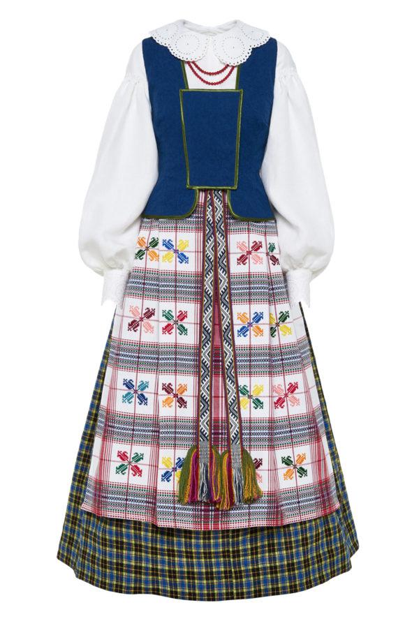 Dzūkiškas moteriškas tautinis kostiumas KD6