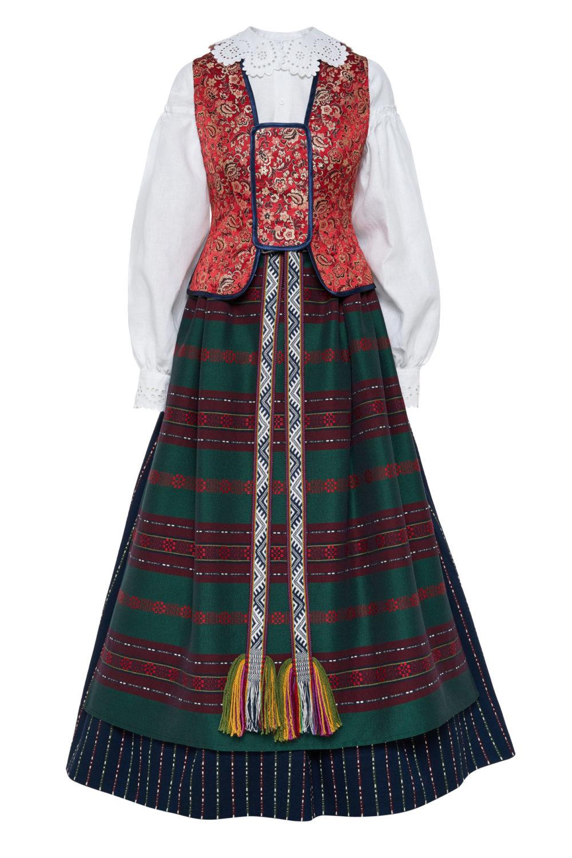 Dzūkiškas moteriškas tautinis kostiumas KD7