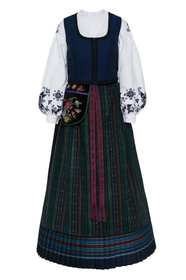Klaipėdos krašto moteriškas vėlyvojo laikotarpio tautinis kostiumas KKLP3
