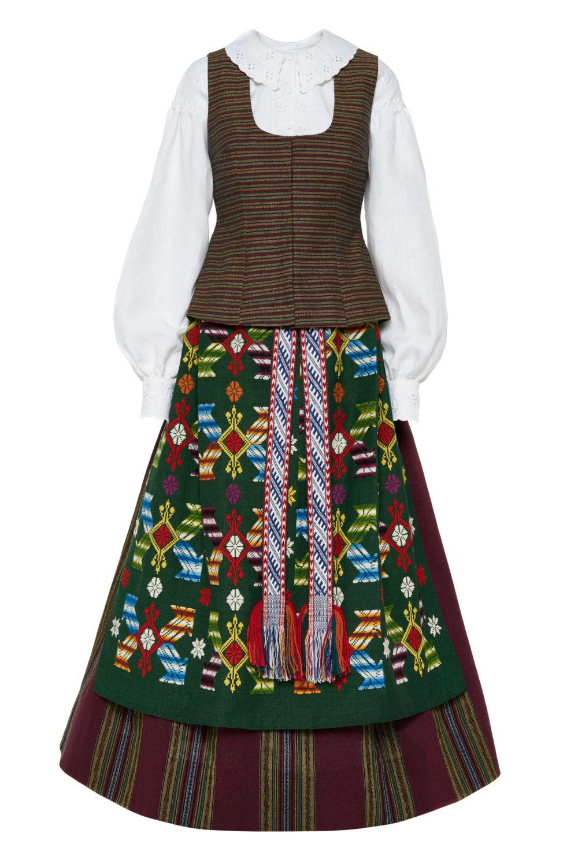 Suvalkietiškas Kapsės moters tautinis kostiumas KS3