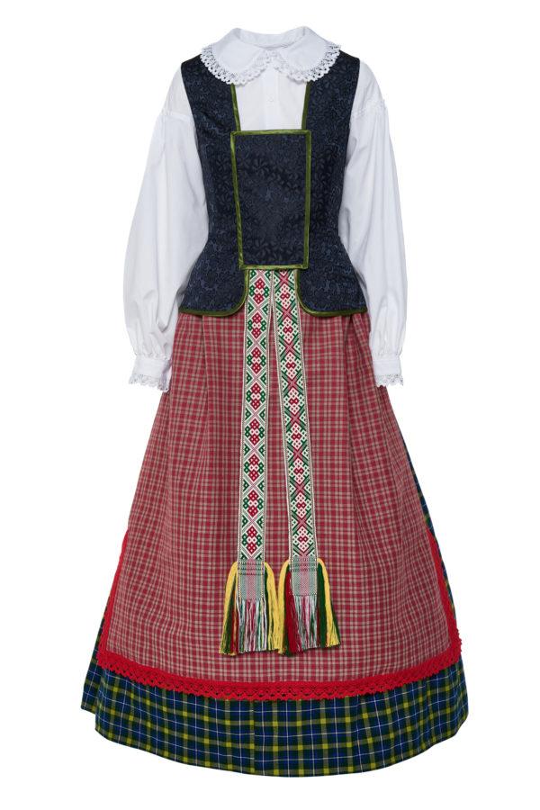 Dzūkiškas moteriškas tautinis kostiumas KD5