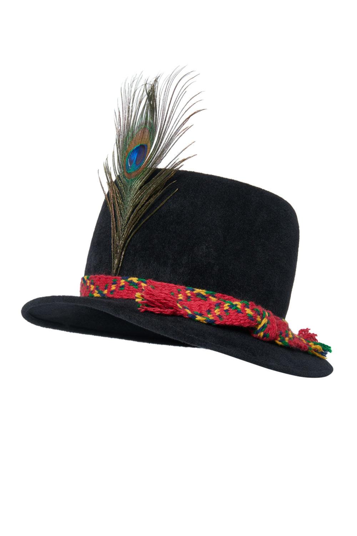 Aukštaitiška vyriška skrybėlė su įv. juostelėm