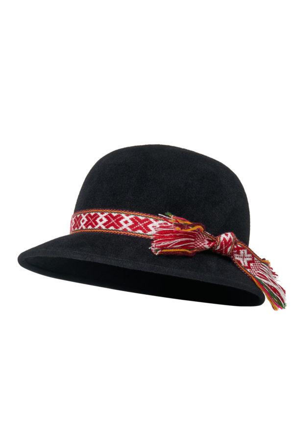Dzūkiška vyriška skrybėlė 2 spalvų su įv. juostelėm