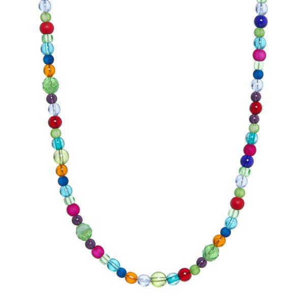 Stikliniai įvairių spalvų karoliai Krl03