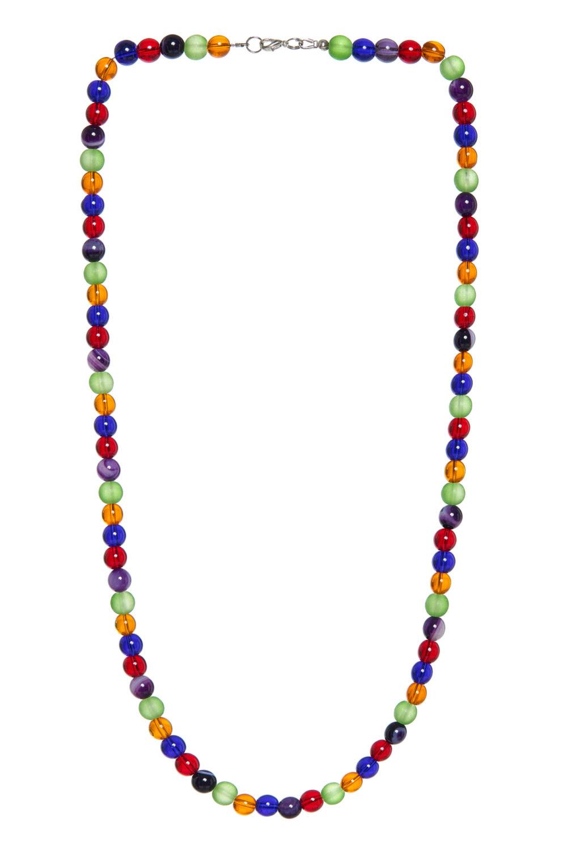 Stikliniai įvairių spalvų karoliai Krl04