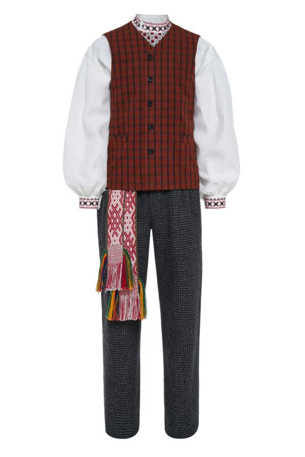 Dzūkiškas vyriškas tautinis kostiumas KVD1
