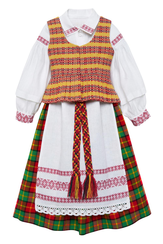 Aukštaitiškas mergaitės/merginos tautinis kostiumas KMERA1
