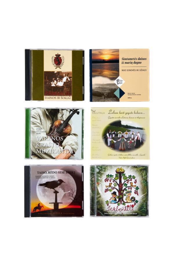 Liaudiškos muzikos kompaktinės plokštelės (CD)