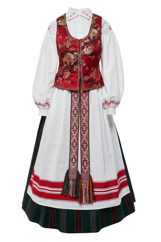 Aukštaitiškas moters tautinis kostiumas KA9